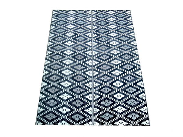 Black, Blue and White Mat